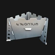Titanium Solid Fuel Stove - Integrated Wind Shield