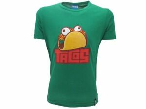 T-Shirt Original Fortnite Epic Games Official Tacos Green Baby Boy Kid