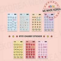 BT21 Baby Character Chubby Sticker 7types Official K-POP Authentic Goods
