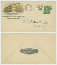 Mr Fancy Cancel 1c ILLUSTRATED AD COVER BETTER SOX KNITTING MILLS FT ATKINSON WI