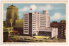 Montreal P.Q.Canada ~ Aviation Building ~ Vintage Postcard