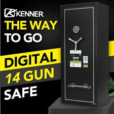 Kenner 14 Gun Safe Firearm Rifle Storage Steel Cabinet - KN14514A
