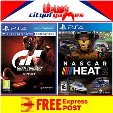 Gran Turismo Sport & NASCAR Heat 2 PS4 Bundle New Free Express Post Pre Order