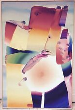 Atila Biro Huile sur toile signée art abstrait abstraction artiste hongrois