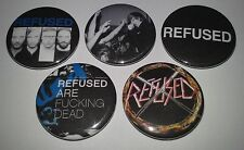 5 Refused badges 25mm punk The Shape of Punk to Come