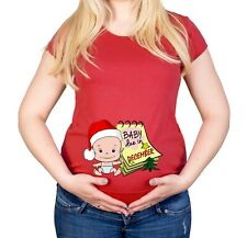 Maternity S-XXL Baby Due In December baby Shower Gift Funny Cotton Top T-Shirt