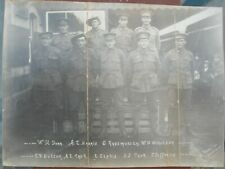 WW1 - Group photo of the 5th Bn named on front of photo 2 brothers Tack WIA