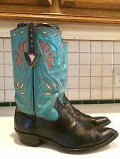 Acme Rare Vintage Men's 1950s Colorful Inlay 4625 Leather Western Boots SZ 10 D