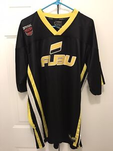 Vintage FUBU The Collection Football Jersey Sz Large Black & Yellow