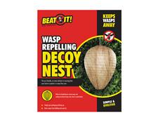 PAPER DECOY WASP NEST SIMULATED DETERRENT ANTI NESTS DETER WASPS FREE GARDEN UK