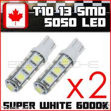 2x Super White T10 Camper 13-SMD 5050 Car Side Wedge LED Light Bulbs interior