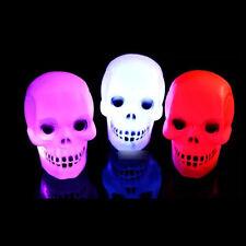 LED Schädel Nachtlicht Bunt Totenköpfen Knochen Skull Skelett  Lamp Halloween