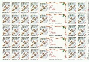 "1989 AMERICAN LUNG ASSOCIATION  ""SEASON GREETINGS"" CHRISTMAS SEALS 30 SEALS"