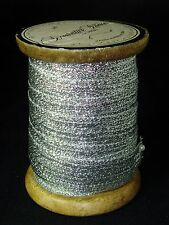 """Handcrafted in India Silver Shimmer Ribbon 5/8"""" x 10 yards on Wooden Spool"""
