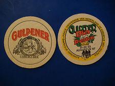 Vintage Beer Brewery Coaster: Gulpener Bier ~ Gulpen, Netherlands 1987 Bike Race