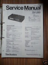 Service Manual Technics SV-260 Digital Tape Deck,ORIGIN
