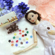 Doll Dress DIY Sewing Tiny Button Flower 6.5mm Brown
