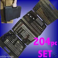 204pc Assorted Drill Bit Set Giro Métrico 204pce PCE PC