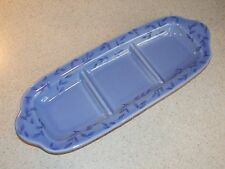 PFALTZGRAFF CHINA SUMMER BREEZE PATTERN 3 SECTION SERVING TRAY 11 7/8 EXCELLENT!