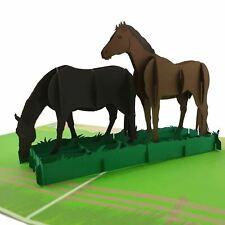 Horses 3D pop up card