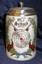 Porzellan Bierkrug Motiv Gut Schuß  0,5l Bayern-Zinn Gravur Gratis