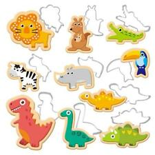 12PCS Animal Cookies Cutter Mold Cake Decorating Pastry Baking Biscuit Mould LG