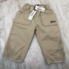 Brand New Baby DKNY Beige / Sand Embroidered Cargo Chino Trousers 18 Months