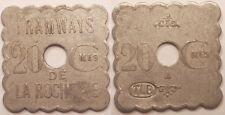 20 Centimes, Tramways de la Rochelle (17), vers 1920 !!