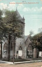 C14/ Hightstown New Jersey NJ Postcard 1911 Methodist Episcopal Church
