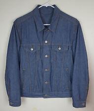 Levi's Men's Slim Blue Chambray Lightweight Untagged Denim Trucker Jacket Size S