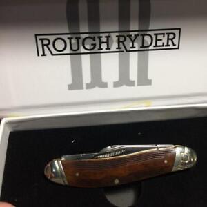 "Rough Ryder High Plains Series Brown Sculpted Bone Sowbelly Knife 3 3/4""  RR2050"