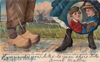 Postcard Advertising Woonsocket Rubber Co Footwear of Nations