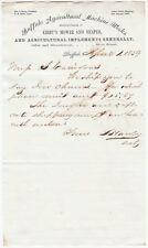 RARE Letter Signed Lucian Hawley 1859 Buffalo NY Head IRS Broke up Whiskey Ring