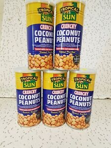 Tropical Sun Crunchy Coconut Peanuts 330 g (Pack of 4)