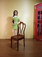 "2 chairs for Barbie FR BJD Dolls 12"" 1/6 furniture handmade diorama OOAK V12"