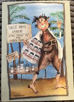 Advertising Go-CArd Postcard ~ Denmark 100% Genuine Cartoon