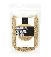 HAYLLO Brown Natural Sesame Seeds Unhalled Raw in Reseal Bag, 12 Ounces