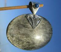 Silber - Obsidian - Anhänger Silber 925 mit Lapislazuli !