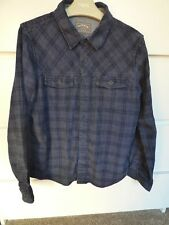 Fat Face Boys Checked Long Sleeve Blue-Mid Navy Shirt 100% Cotton 10-11 Years