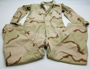 USGI Mechanics Cold Weather Desert Camo Coverall Size Large - MADE IN USA