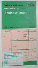 1994 old OS Ordnance Survey 1:25000 Pathfinder map 122 Diebidale Forest NH 48/58