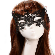 Sexy Lady Black Lace Hollow Eye Face Mask Masquerade Party Fancy Dress