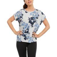 Ideology Women's Printed Yoga T-Shirt Grey Size 2 Extra Large