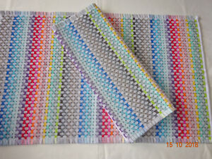 1 x Pair Rainbow Colours New Kitchen Hand/Tea Towel.  Lovely Quality. Thick.