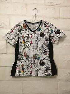 Disney The Nightmare Before Christmas Side Panels No Pockets Top Women's Size M