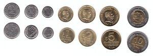 Uruguay - set 7 coins 10 20 50 Centesimos 1 2 5 10 Pesos 1994 - 2008 UNC
