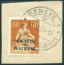 SWITZERLAND-1922 League of Nations 60c Orange-Brown Chalk Surfaced Sg LN21a VFU