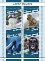 Sierra Leone - 2018 Arctic Animals - 4 Stamp Sheet - SRL181109a