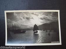 old China HK  postcard,Sunrise, HK real photo postcard
