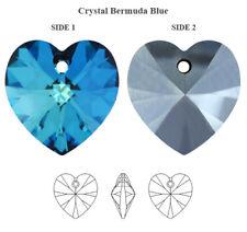 Genuine SWAROVSKI 6228 Xilion Cuore Ciondolo CRYSTAL BERMUDA BLUE 18 mm